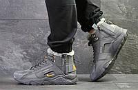 Мужские зимние кроссовки серые Nike Huarache 6522