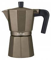 Кофеварка гейзерная Maxmark 300мл  MK-106BR