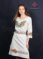 Платье вышиванка в украинском стиле, арт. 0074