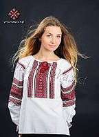 Українська жіноча вишиванка біла, арт. 0031