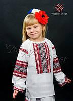 Вишиванка з довгим рукавом на дівчинку, арт. 0130