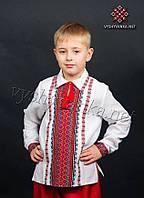 Вышиванка с рубашечным воротником на мальчика, арт. 0127