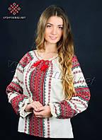 Вишиванка жіноча з домотканого полотна, арт. 0060