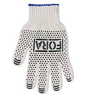 Рабочие перчатки ХБ с ПВХ 10 класс Doloni FORA 15000