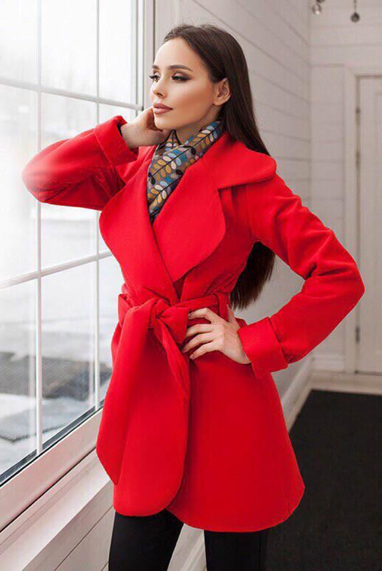 Червоне пальто жіноче -Альба -