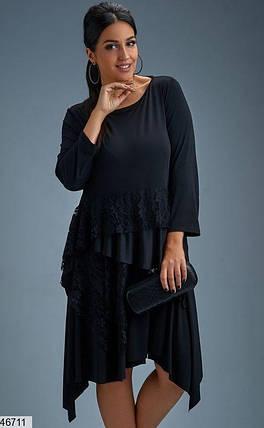 Платье в романтичном стиле Гипюр Трикотаж  Большие размеры от 48-50,50,52,54,56, фото 2