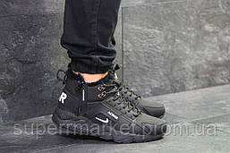 Кроссовки Fila Huarache черные (зима). Код 6523, фото 3