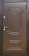 Входная металлическая дверь МДФ/МДФ ТМ «КОРДОН» Стандарт, модель 91 (темный орех)