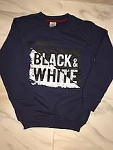 Детская толстовка с начесом ТЕМА Black/White, т. синяя