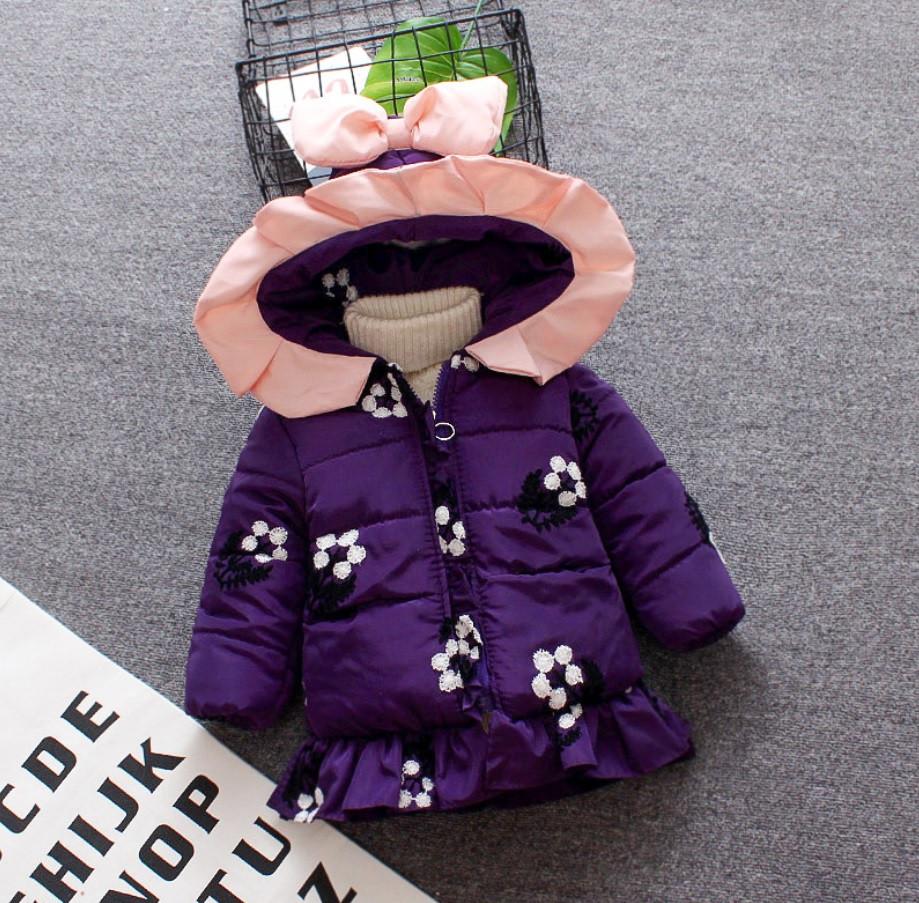 Куртка для дівчинки демісезонна з вишивкою 98 см.
