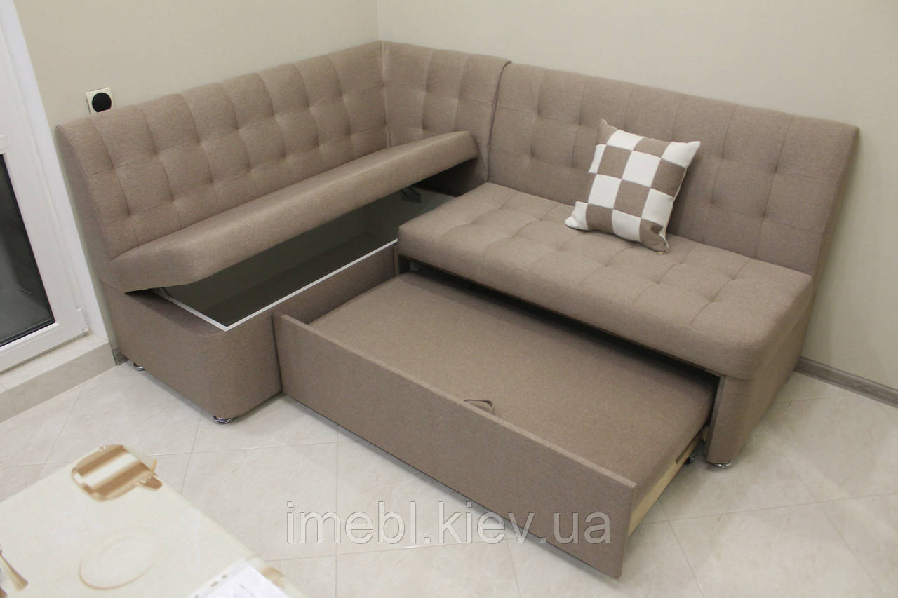 Раскладной кухонный угловой диван (Какао)