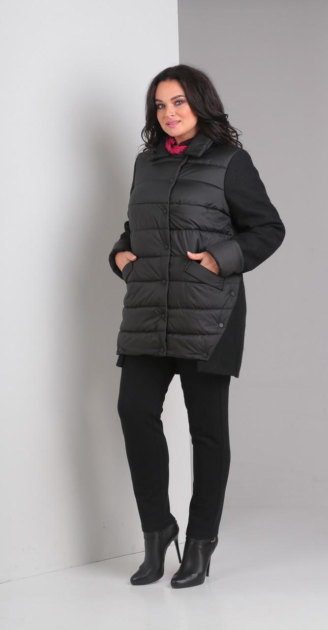 Куртка Диамант-1357 белорусский трикотаж, черный, 52