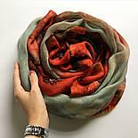 10360-5, павлопосадский шарф-палантин шерстяной (разреженная шерсть) с осыпкой, фото 7