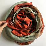 10360-5, павлопосадский шарф-палантин шерстяной (разреженная шерсть) с осыпкой, фото 9