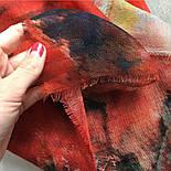 10360-5, павлопосадский шарф-палантин шерстяной (разреженная шерсть) с осыпкой, фото 8