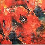 10360-5, павлопосадский шарф-палантин шерстяной (разреженная шерсть) с осыпкой, фото 6