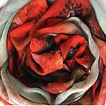 10360-5, павлопосадский шарф-палантин шерстяной (разреженная шерсть) с осыпкой, фото 4