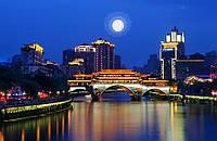 """В Китае тестируют """"Луну"""" для освещения городских улиц"""