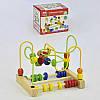 Развивающая деревянная игра Лабиринт для пальчиков С 31524 шарики проволока в коробке