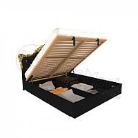 Кровать Дженифер 160х200 с мягкой спинкой, каркасом и подъемником Миро-Марк