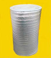 Вспененный полиэтилен 5 мм,1х50 м. фольгированный