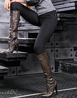 Женские черные трикотажные леггинсы (2368 svt)