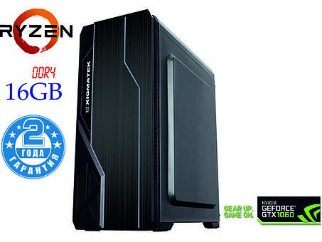 Игровой компьютер NG Ryzen 5 2600 X2 (Ryzen 5 2600 /DDR4 - 16Gb/SSD-240Gb/HDD-2Tb/GTX1060), фото 2