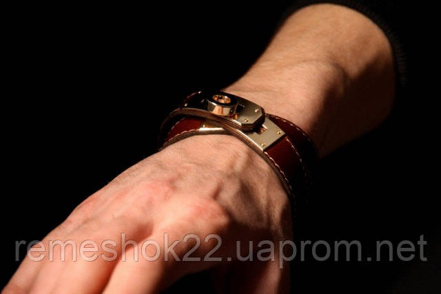 0cccfa27fcf4 ... Браслет-ремень на руку.Hermes Kelly Double Tour Leather Bracelet, фото 4