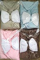 Одеяло / плед для новорожденных с бантом