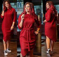 Элегантное вязаное женское платье Г3884, фото 1