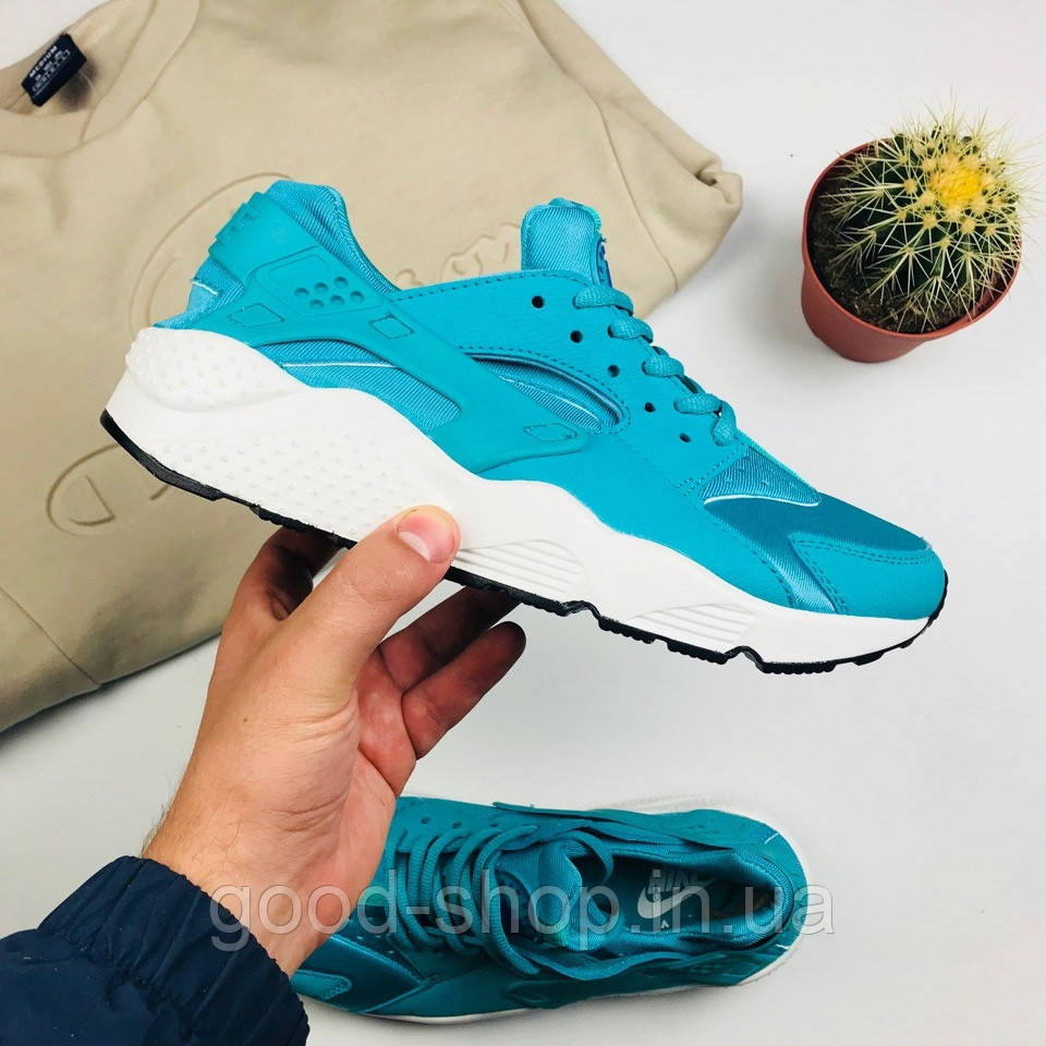 """Мужские кроссовки Nike Air Huarache """"Blue"""" (люкс копия)"""