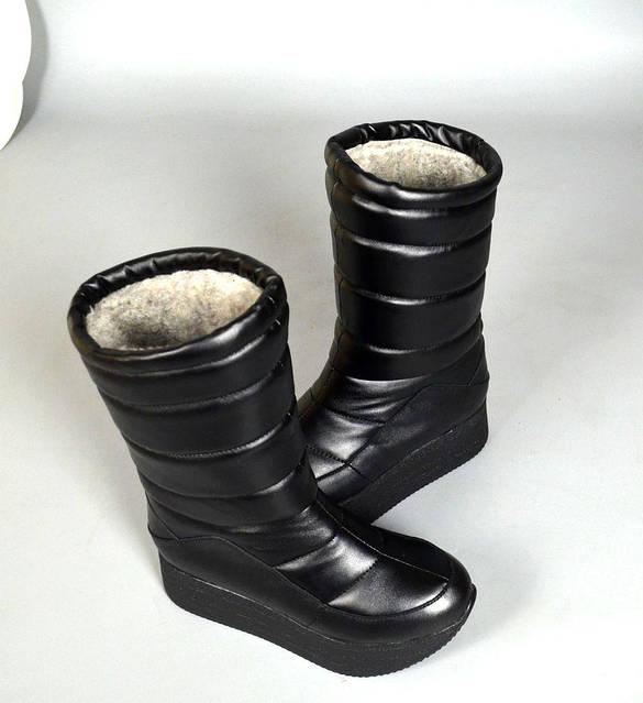 Чоботи Dana дутики шкіряні, зимові, фото 4