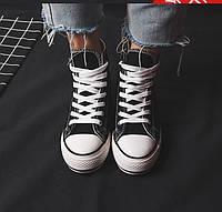 Кеды размер 36 черные 09016, фото 1