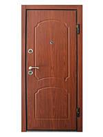 Входная металлическая дверь МДФ/МДФ ТМ «КОРДОН» Престиж , модель 901 (орех конъячный)