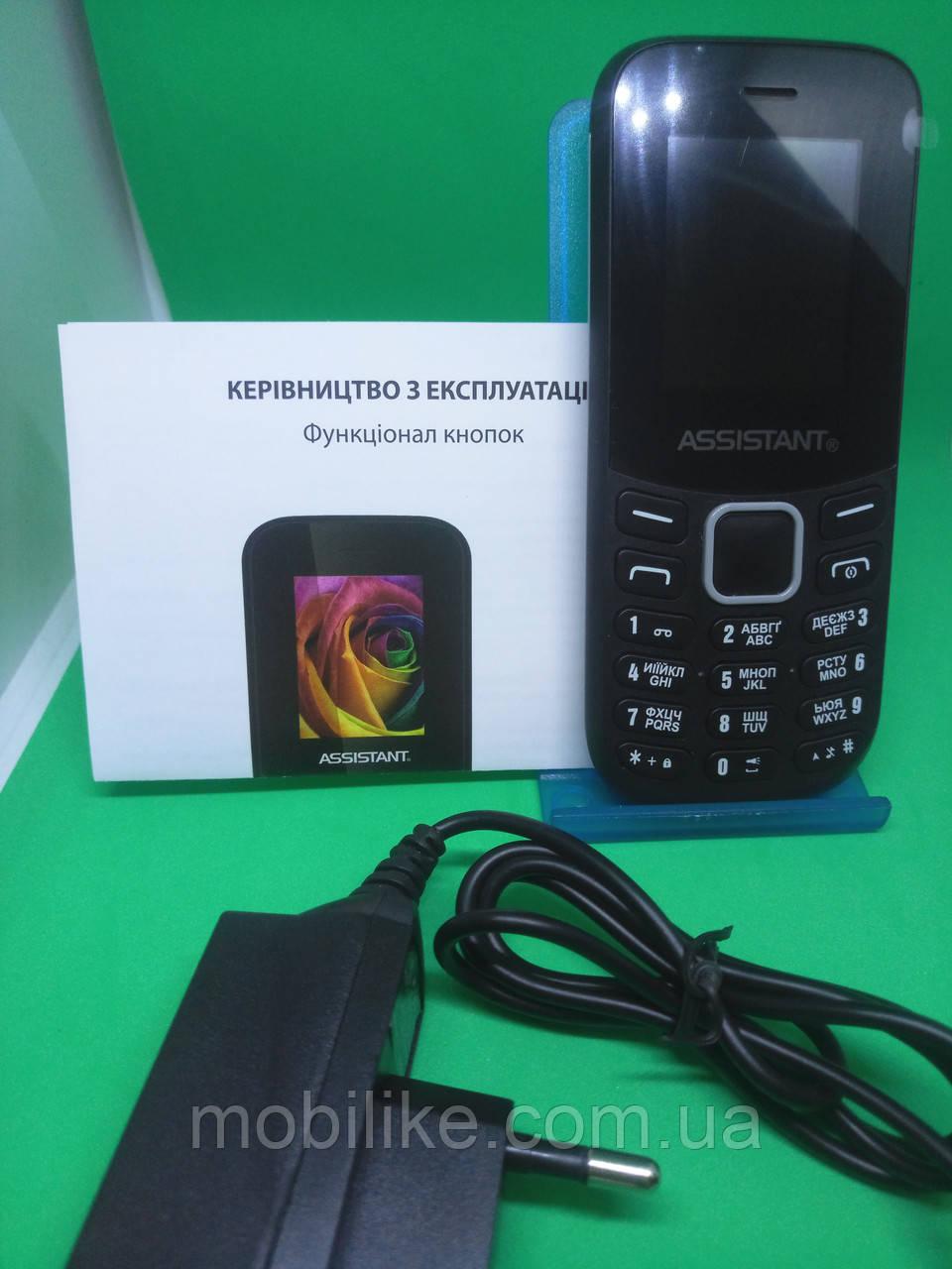Мобильный телефон Assistant AS-101 Black Камера/ Bluetooth/ Фонарик