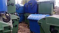 Б/У Мусорный контейнер пластиковый 1,1 м3