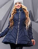 Женская зимняя расклешенная куртка (2351+А-2349+А-2347+А-2350+А-2352 svt) Синий