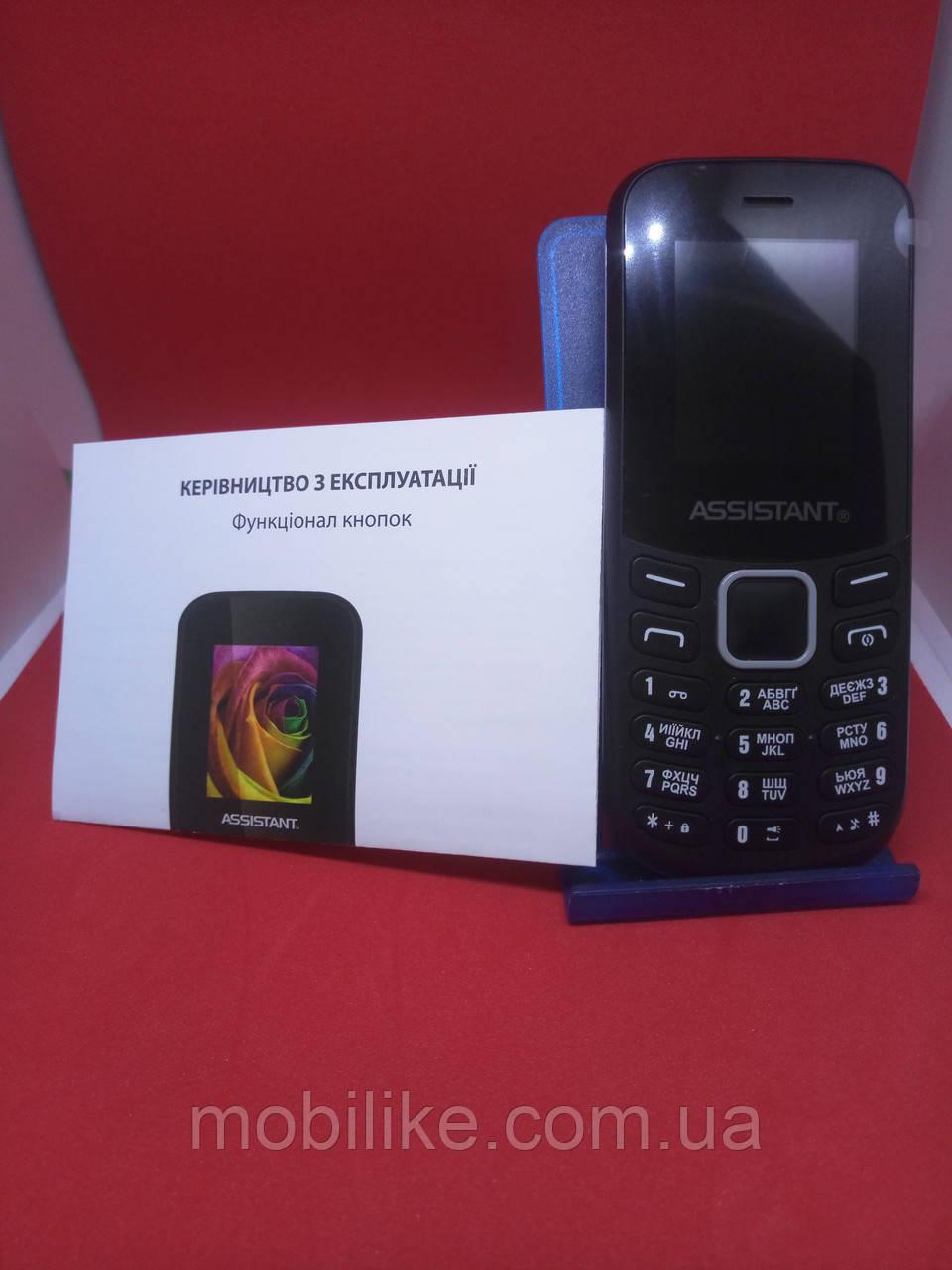 Кнопочный телефон Assistant AS-101 Black Камера/Bluetooth ГАРАНТИЯ!