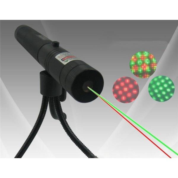 Лазер мощный HJ-308  зеленый + красный+штатив