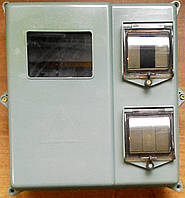 Щит монтажный для трехфазных электросчетчиков  и автоматических выключателей герметичный пластиковый