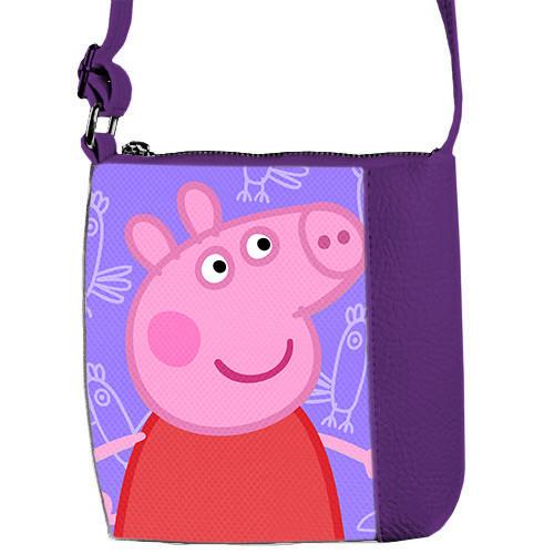 Сумка Moderika Mini Miss фиолетовая с рисунком Свинка Пеппа (55140)