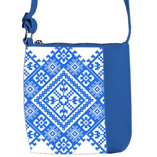 Сумка Moderika Mini Miss синяя с рисунком Вышивка (55105)