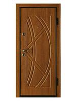 Входная металлическая дверь МДФ/МДФ ТМ «КОРДОН» Престиж , модель 907 (золотой орех)