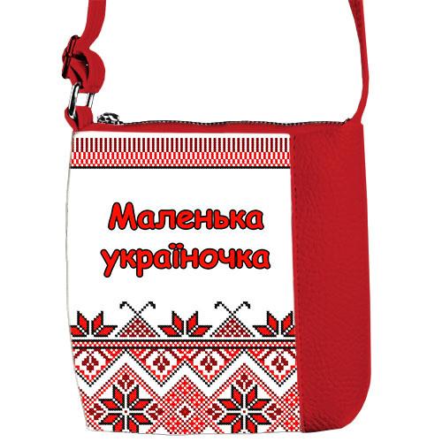 Сумка Moderika Mini Miss красная с рисунком Украиночка (55117)