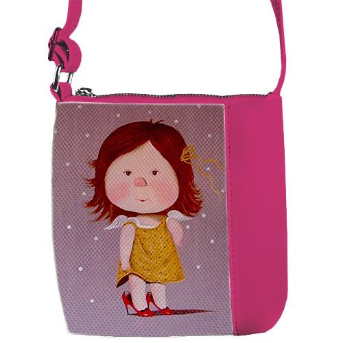 Сумка Moderika Mini Miss розовая с рисунком Гапчинская (55131)