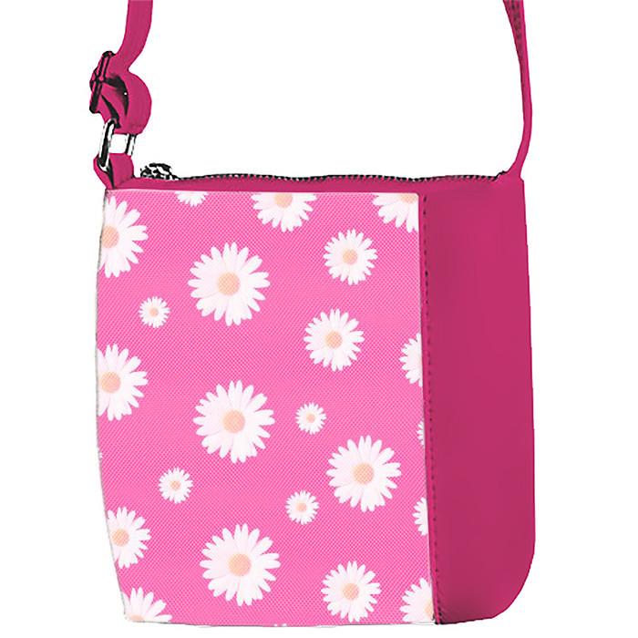 Сумка Moderika Mini Miss розовая с рисунком Цветы  (55234)
