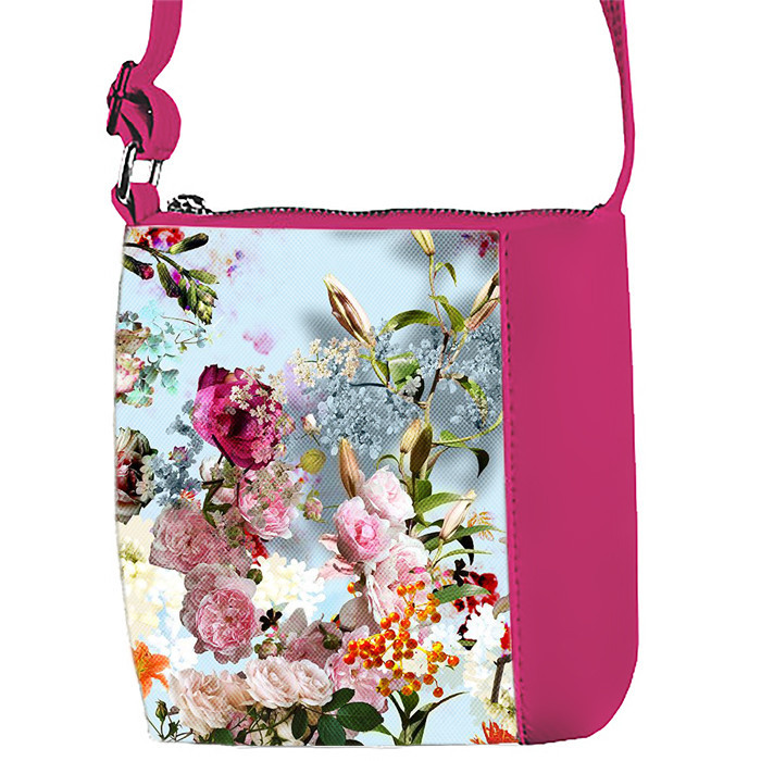 Сумка Moderika Mini Miss розовая с рисунком Цветы (55261)