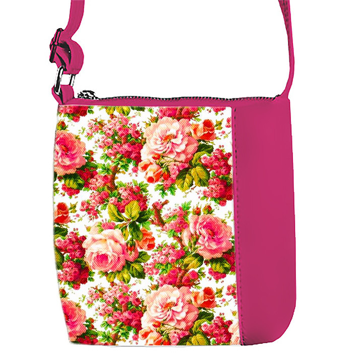 Сумка Moderika Mini Miss розовая с рисунком Цветочный Рай (55271)