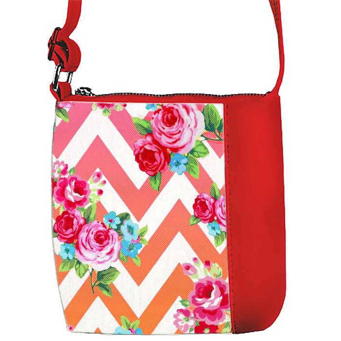 Сумка Moderika Mini Miss красная с рисунком Цветочный Орнамент (55285)
