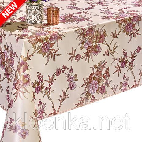 Красивая клеенка для украшения праздничного стола с цветочным принтом